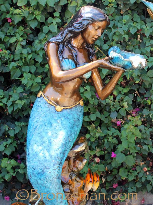bronze mermaid statues