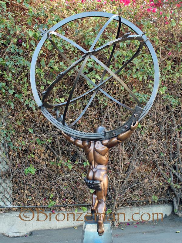 bronze atlas statue