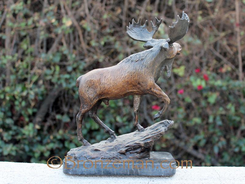 bronze statue of moose