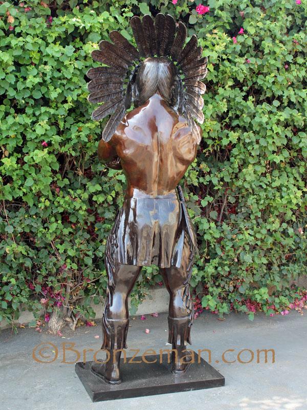 bronze indian statue