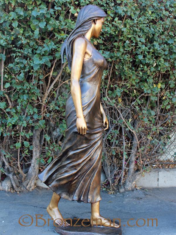 bronze woman statue