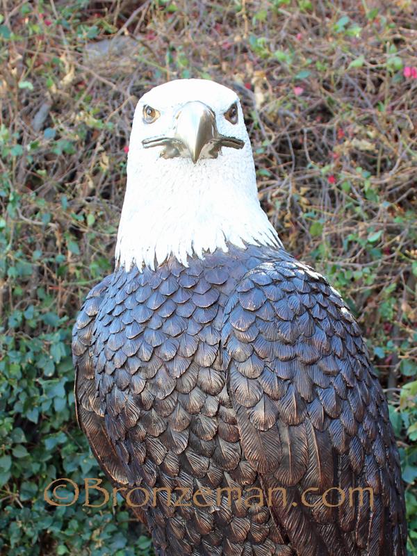 custom bronze eagle statue