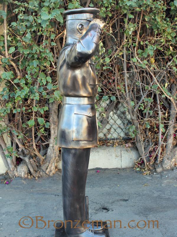 bronze statue of marine