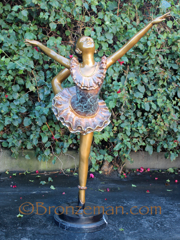 bronze ballerina statue