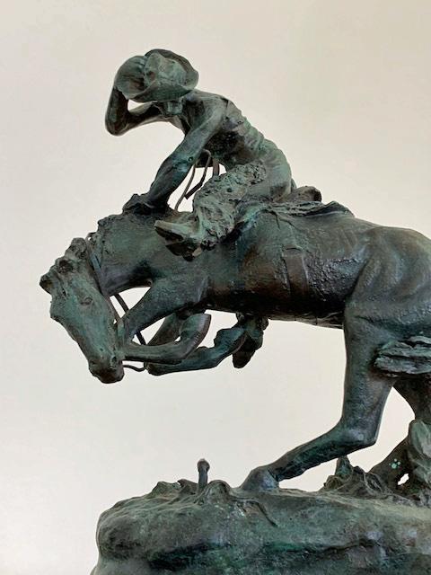 bronze remington statue