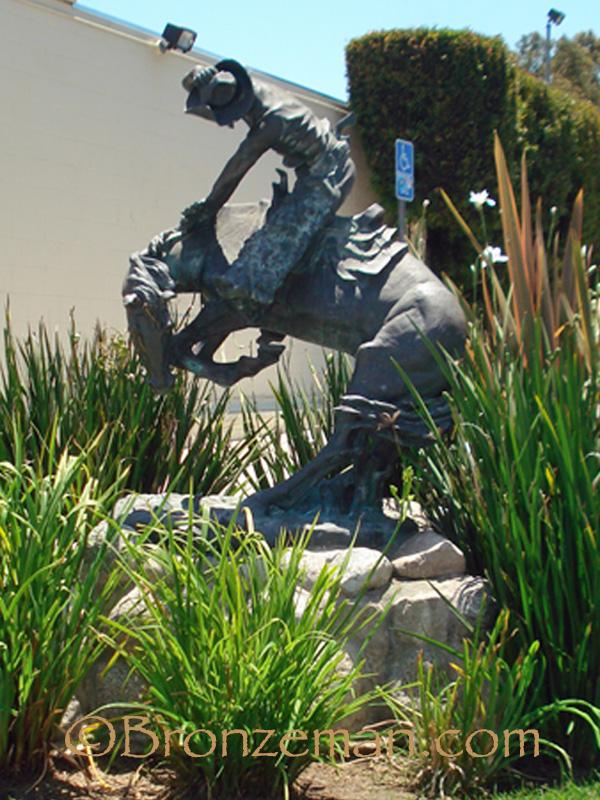 bronze rattlesnake statue