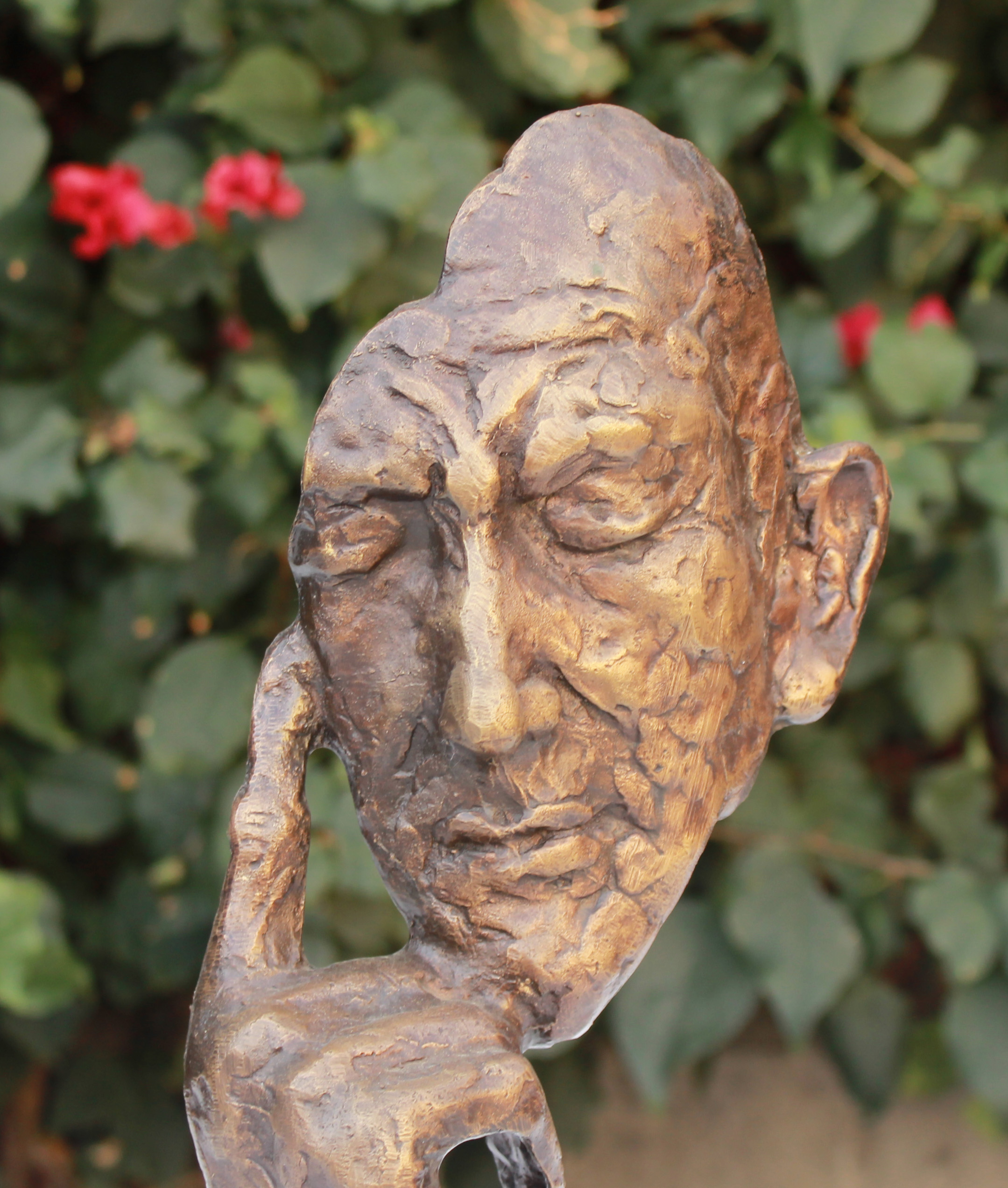 bronze sculpture of solitude