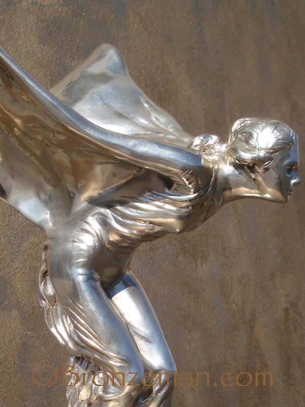 bronze spirit of ecstasy statue