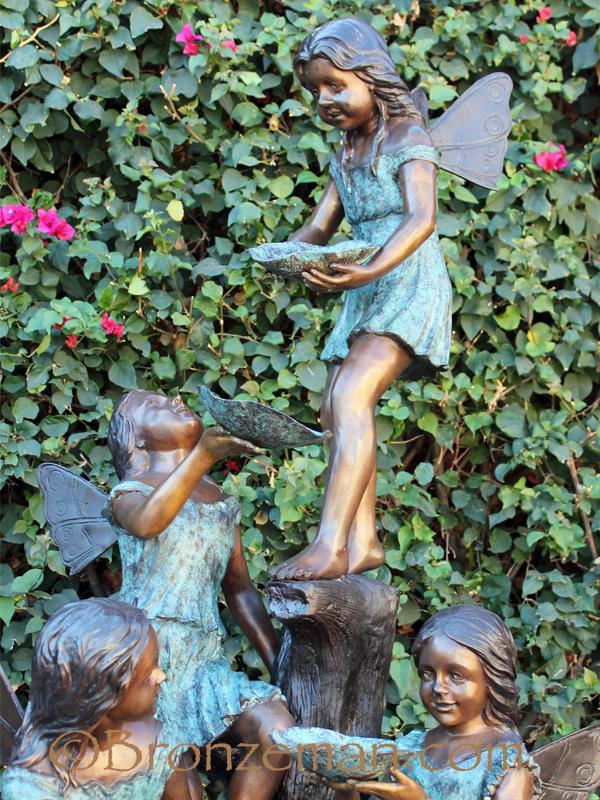 bronze fairy statue fountain