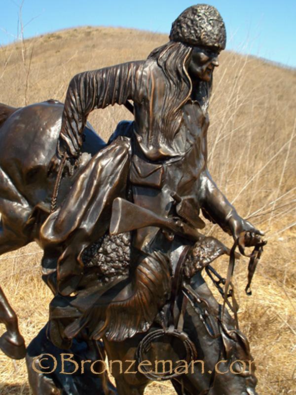 bronze mountain man