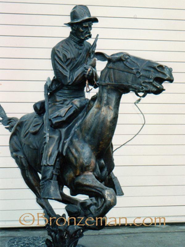 bronze statue trooper of plains
