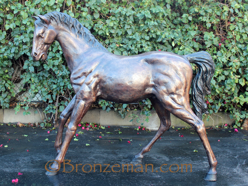 bronze horses statues