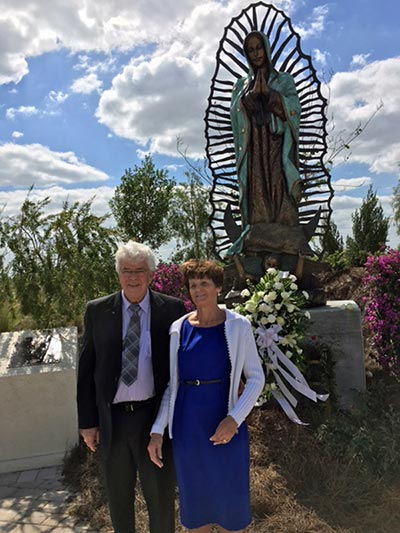 Bronze Statue of Lady Guadalupe Donated to Ave Maria University by Jerry and Linda Stafford