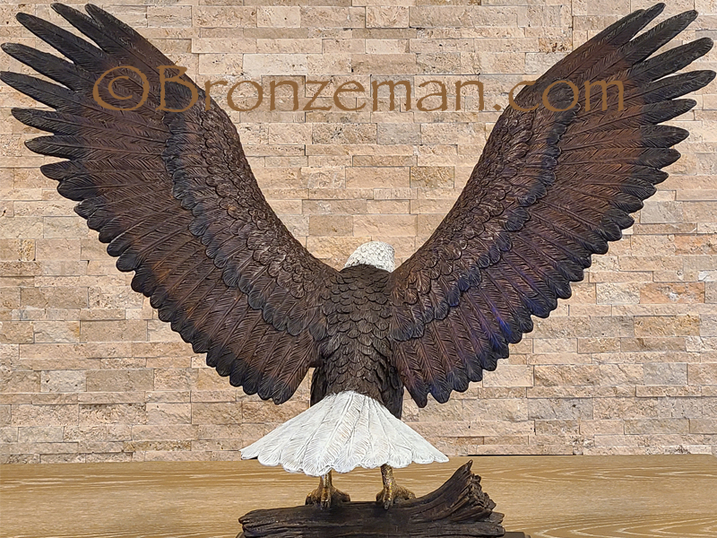 bronze eagle statue