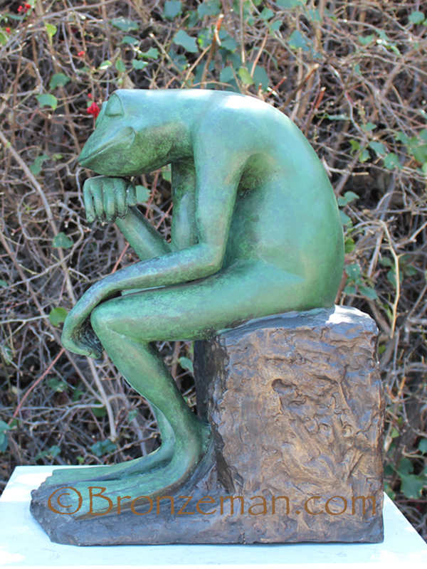 bronze frog thinker