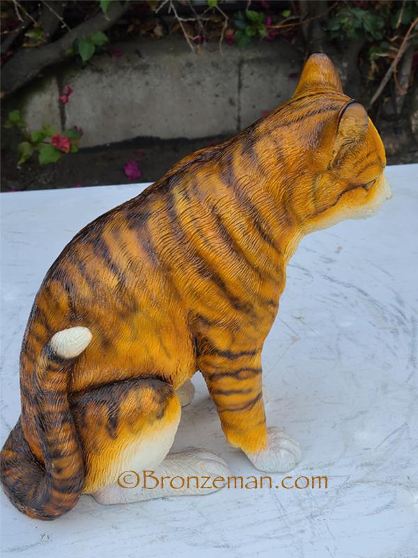 bronze kitten sitting