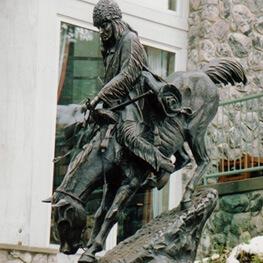 western bronze statue category
