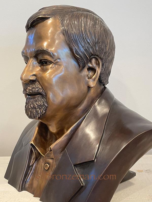 custom bronze bust sculpture
