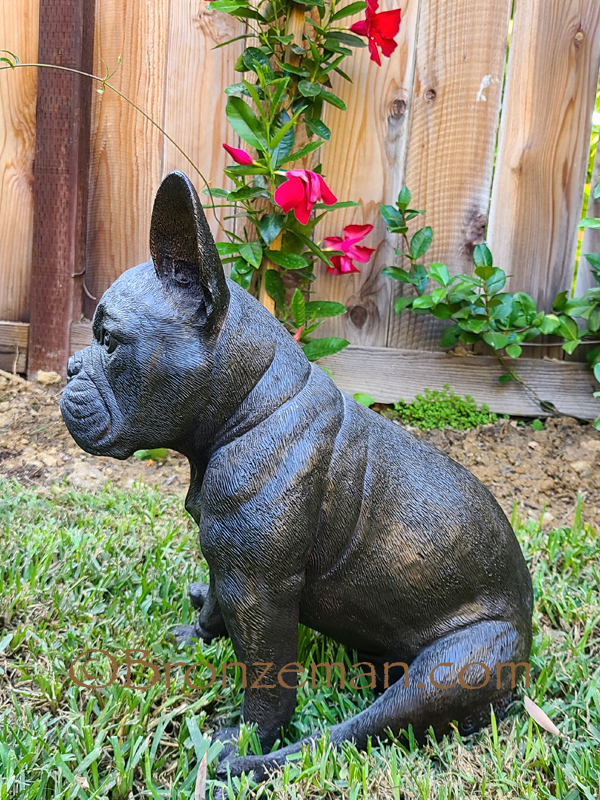 custom bronze dog statue french bulldog